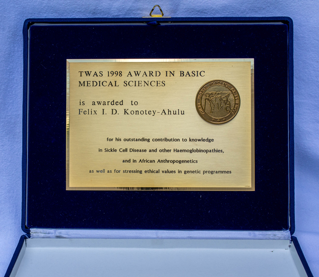 Third World Academy of Sciences Award (TWAS) 1998